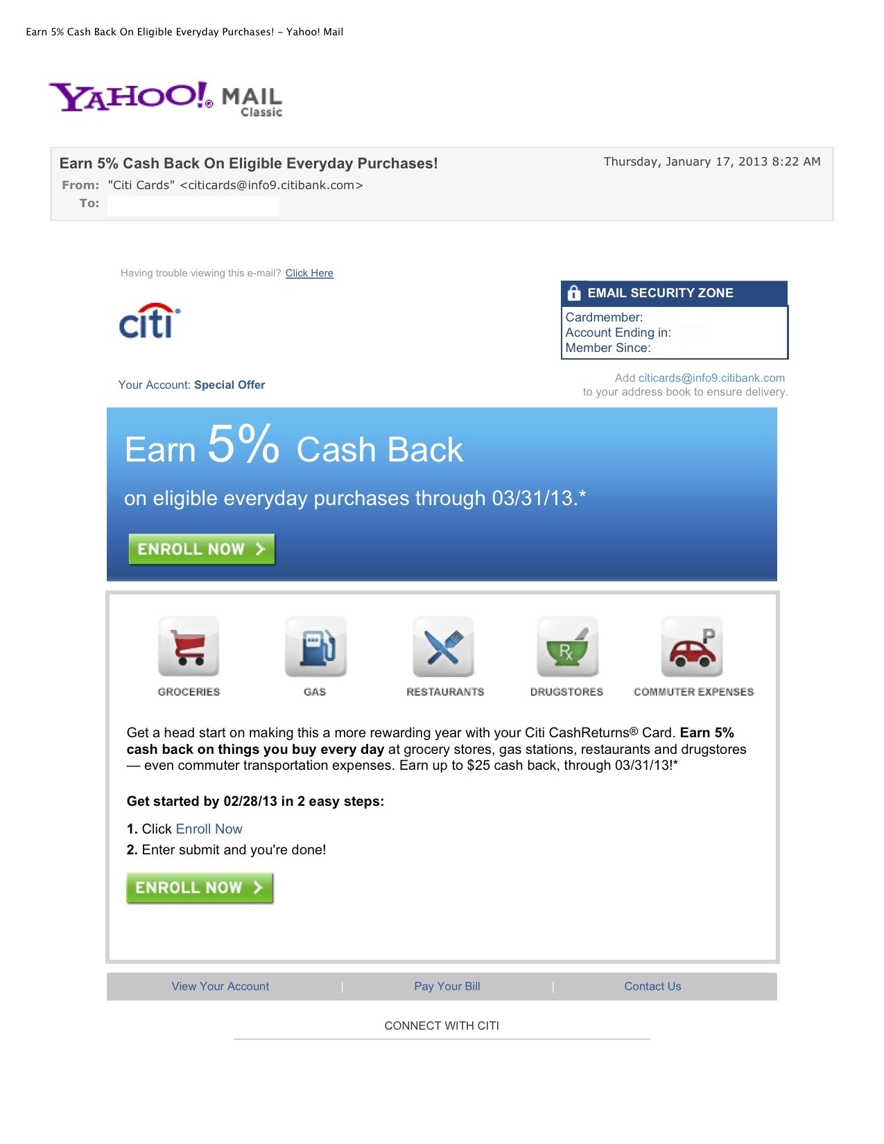 Earn 5% Cash Back On Eligible Everyday Purchases!1 - Yahoo! Mail.jpg