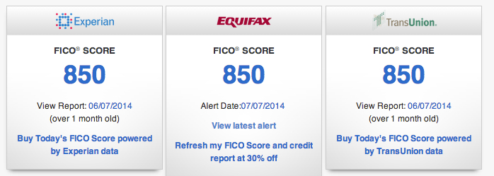how to get 850 credit score