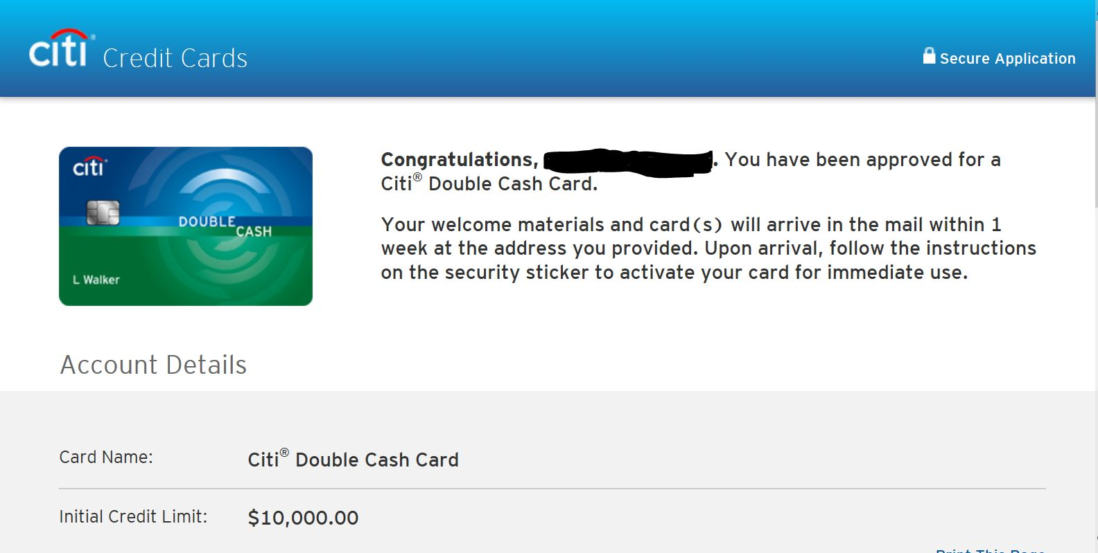 Approved for citi double cash card myfico 174 forums