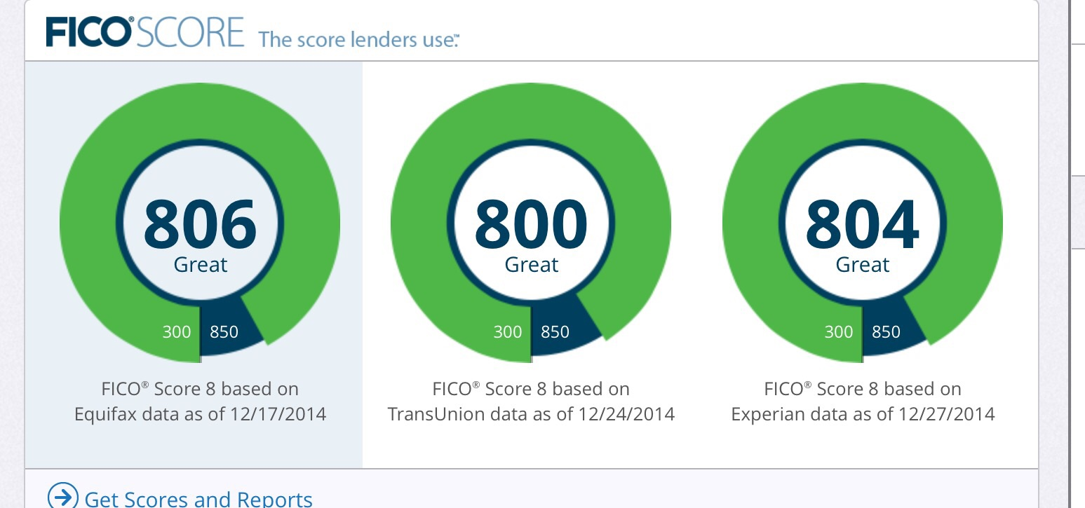 how to get fico score above 800