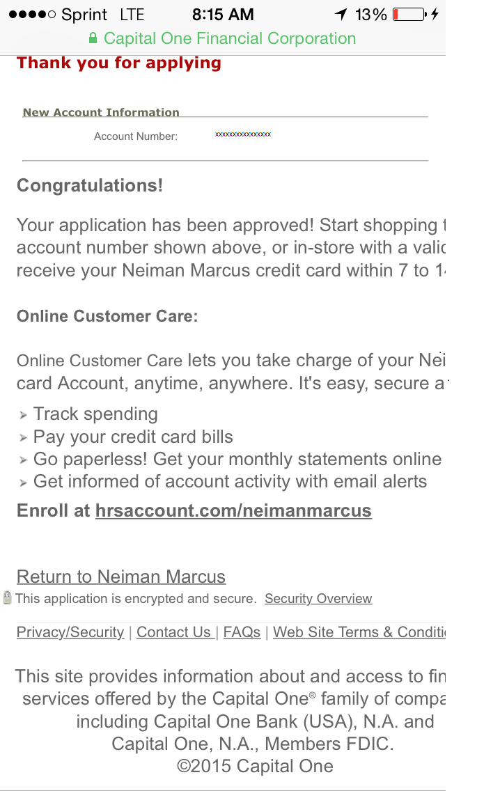 Neiman marcus credit card - Img_4827 Png