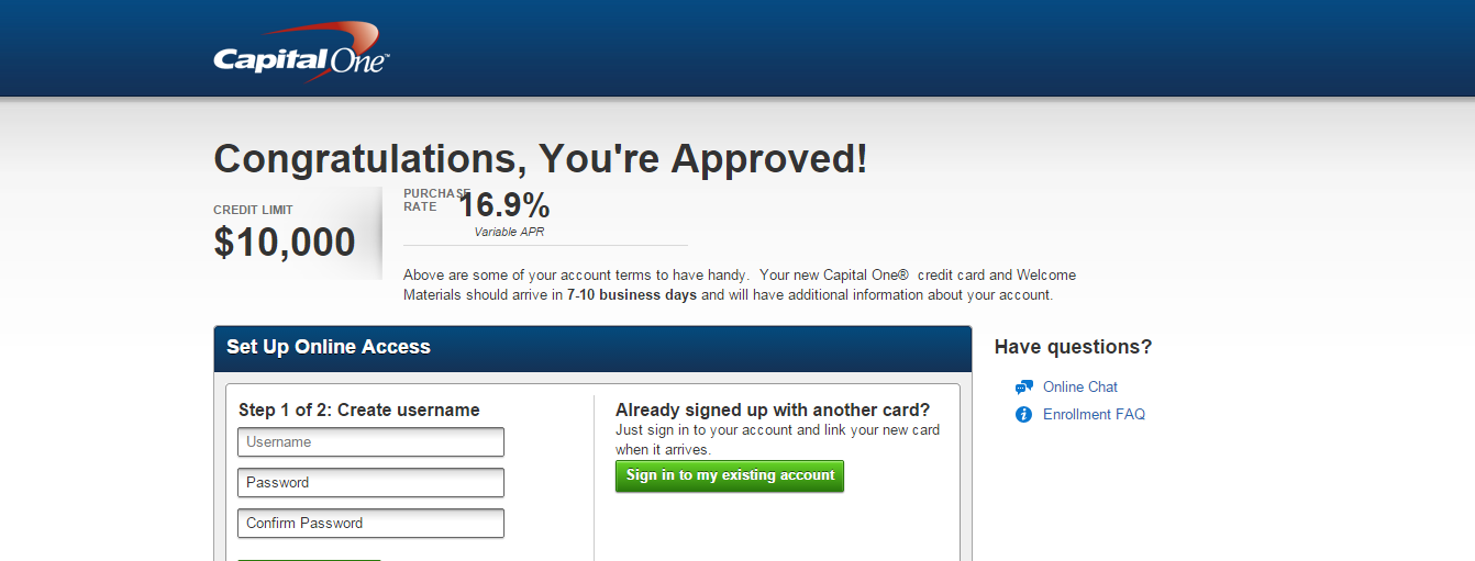 Capital One Venture and Walmart Approval - myFICO® Forums - 3855993