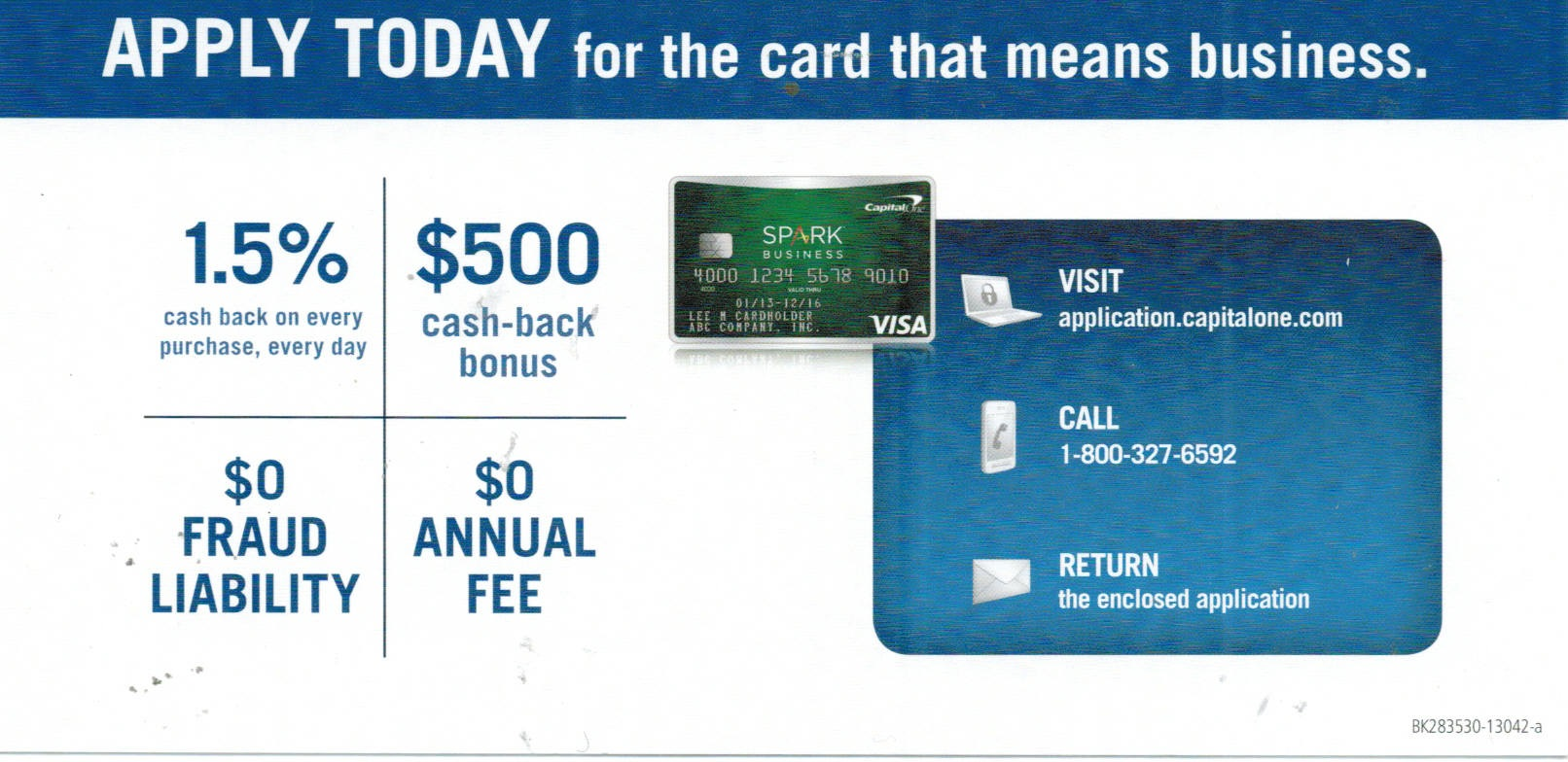 Capital one Spark card, best one yet for cash back... - myFICO ...