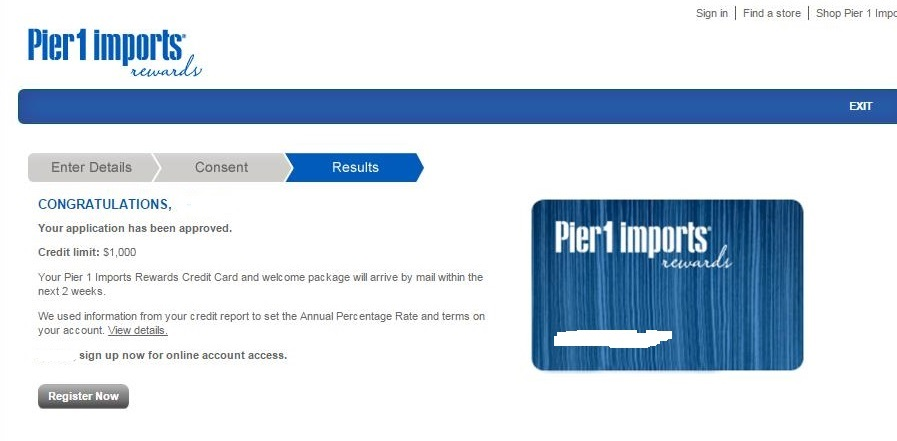 Pier 1 Rewards Instant Approval myFICO Forums