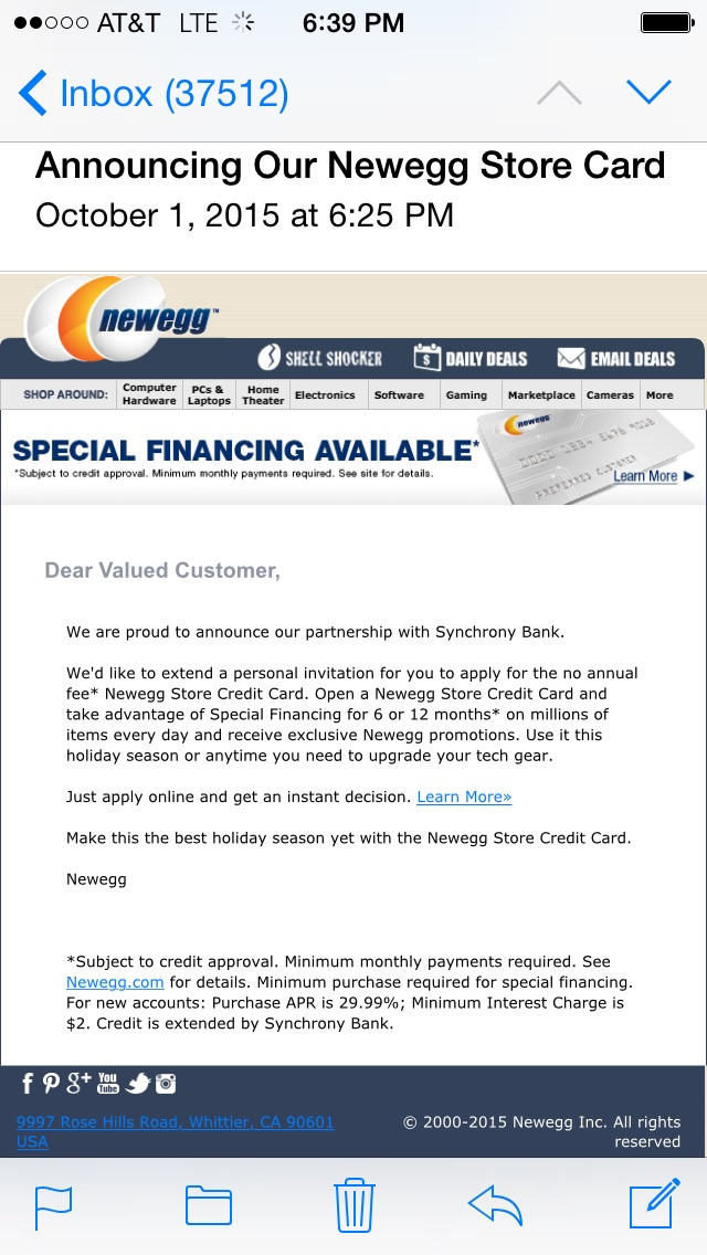 Newegg Credit Card Will Be Available Tomorrow Page MyFICO - Invoice word doc online store credit cards guaranteed approval