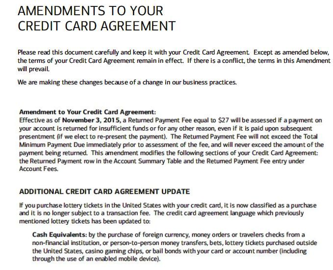 Bank Of America Business Credit Card Agreement Image Collections