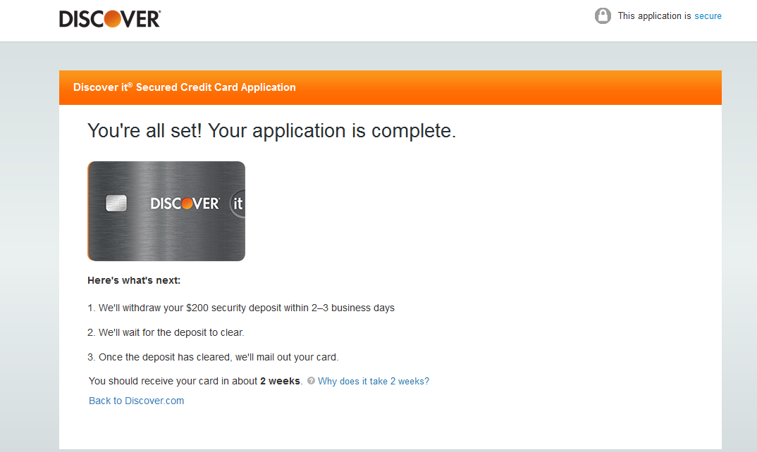Approved!!!!!!!!! Discover it Secured... - myFICO® Forums - 4437146