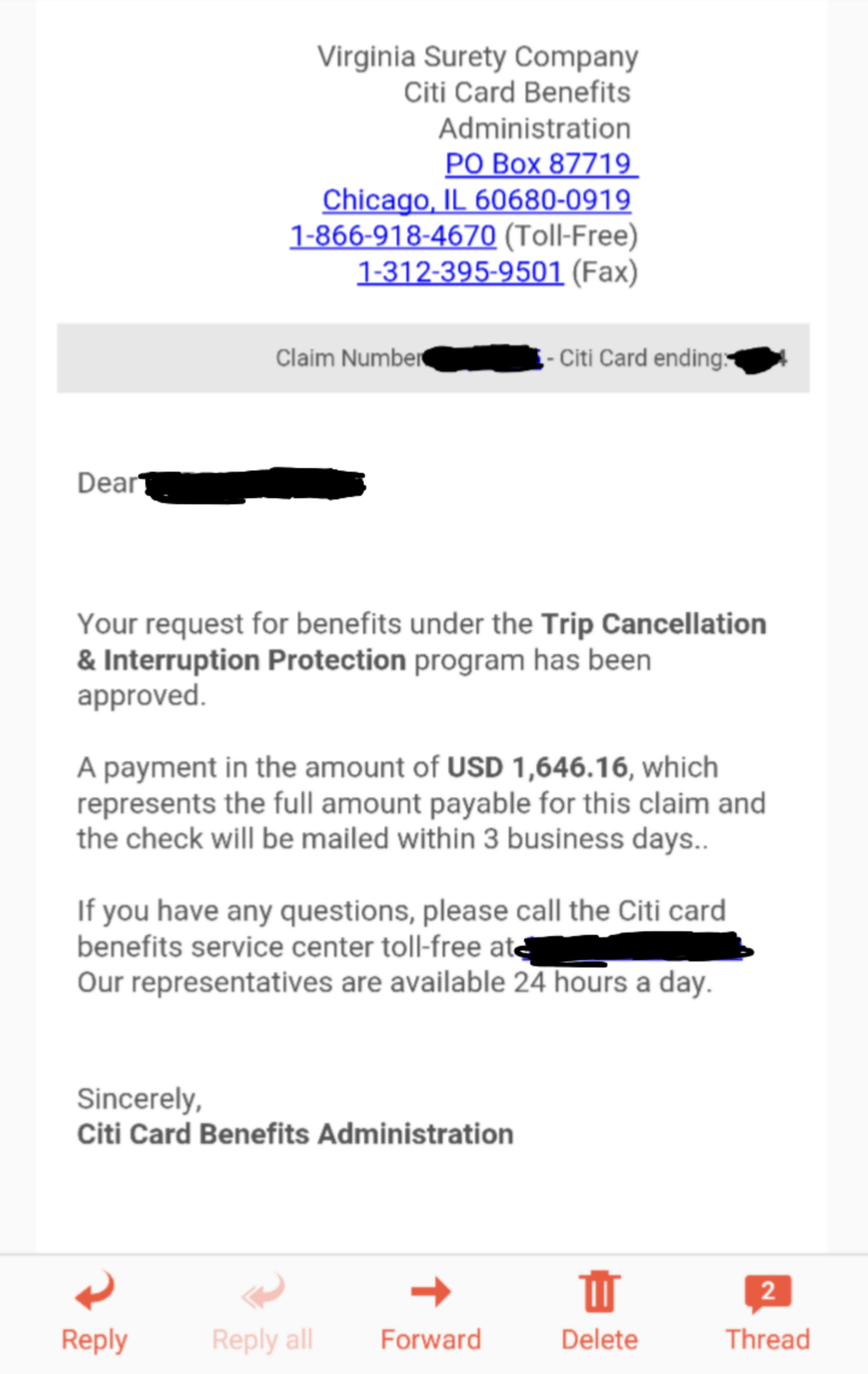 Citi benefits really works page 2 myfico forums 4636071 reheart Gallery