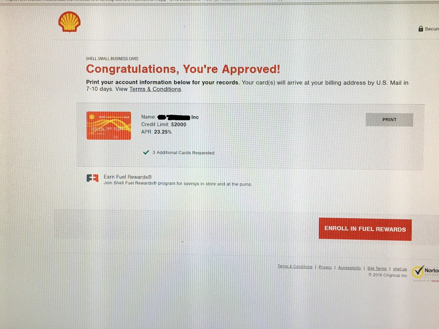 shell small business card approved myfico forums 4767788 - Shell Business Gas Card
