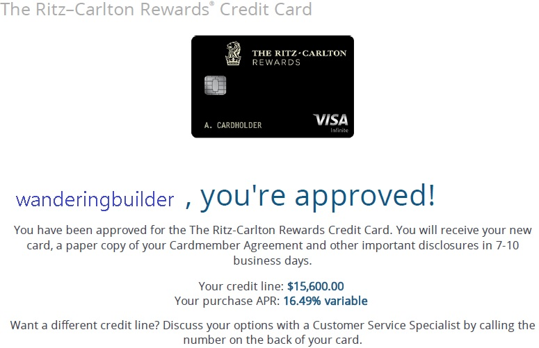 RitzCarlton Surprise InstaApproval  Myfico Forums