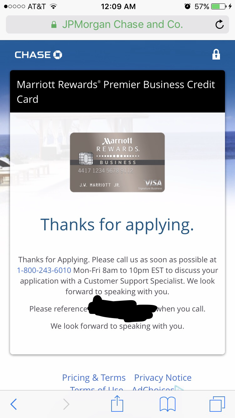 Chase Marriott Business Visa, possible approval?! - myFICO® Forums ...