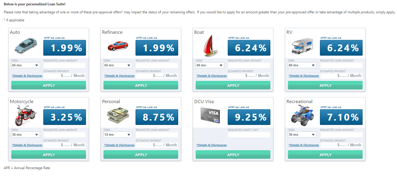 The Rates Are Static But If I Change The Loan Repayment Duration Months To Pay Back The Rates Change