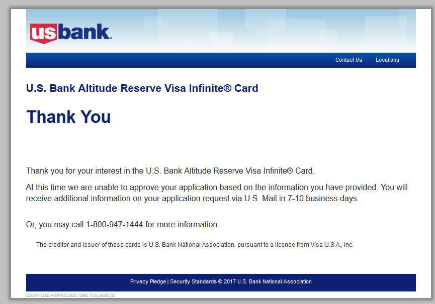 Today is US Bank Day! Altitude Reserve... - myFICO® Forums - 4950119