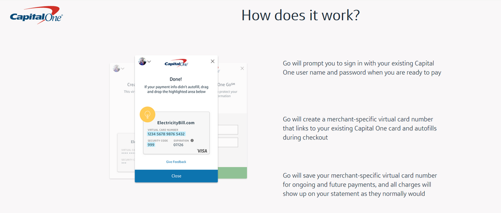 Capital one now offering virtual card numbers myfico forums when youre on a website that asks for a credit card number the extension will offer to generate one for you ive not yet completed a new order colourmoves