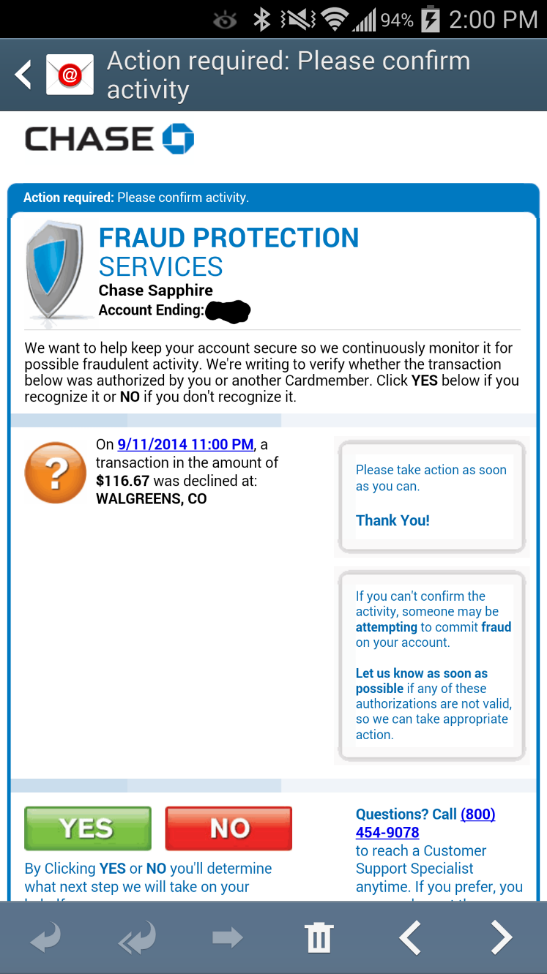 Chase Sapphire Credit Fraud Alert - Page 2 - myFICO ...
