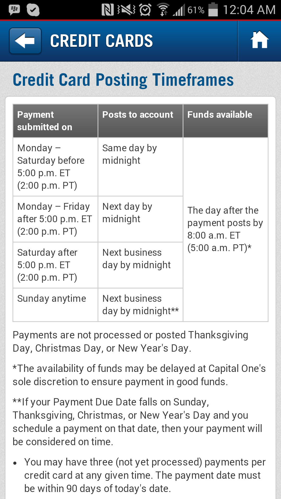 Availability of funds, Capital One?? - myFICO® Forums - 3452837