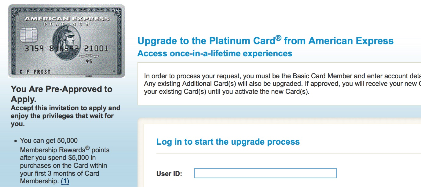 Interesting American Express pre-approval offer fr - myFICO