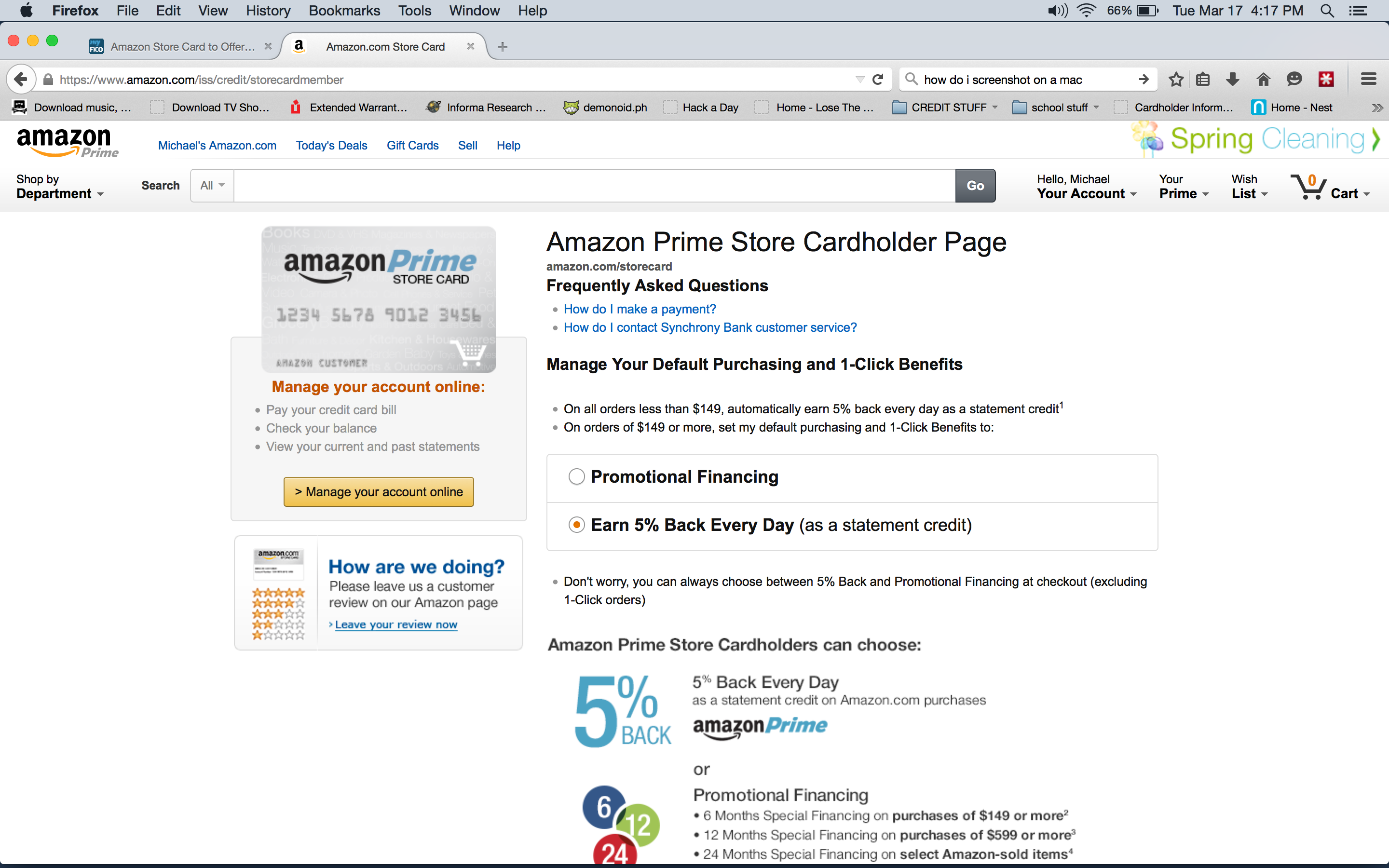 Amazon Store Card to Offer 11% Cash back on everyda - Page 11