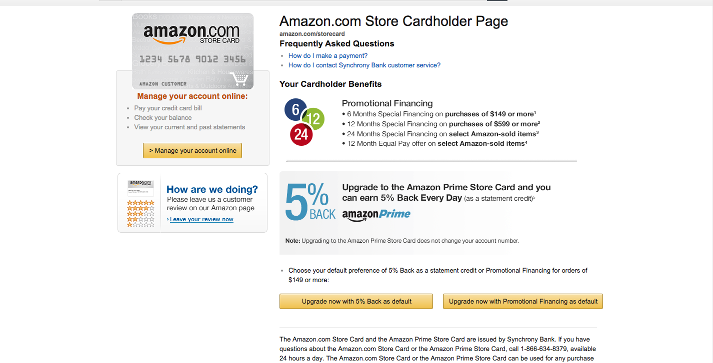 Amazon Store Card to Offer 14% Cash back on everyda - Page 14