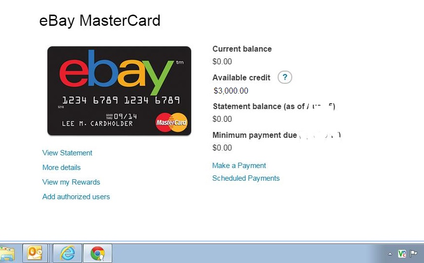 Ebay MasterCard Increased my Limit -without me ask - myFICO