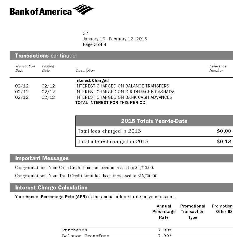 Bank of America Automatic Credit Line Increase - myFICO® Forums