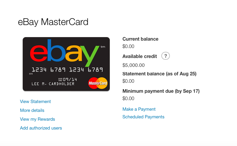 Another Ebay MasterCard CLI! - myFICO® Forums - 7