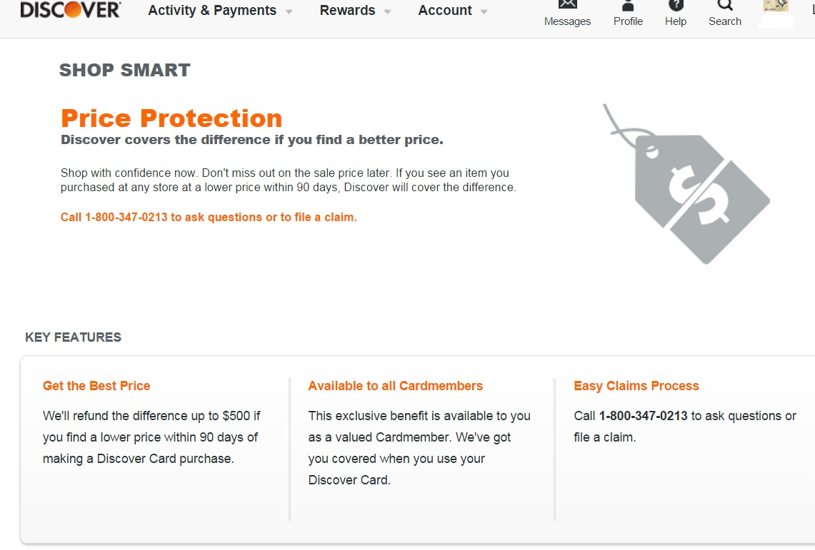 Discover Price Protection Terms - myFICO® Forums - 7