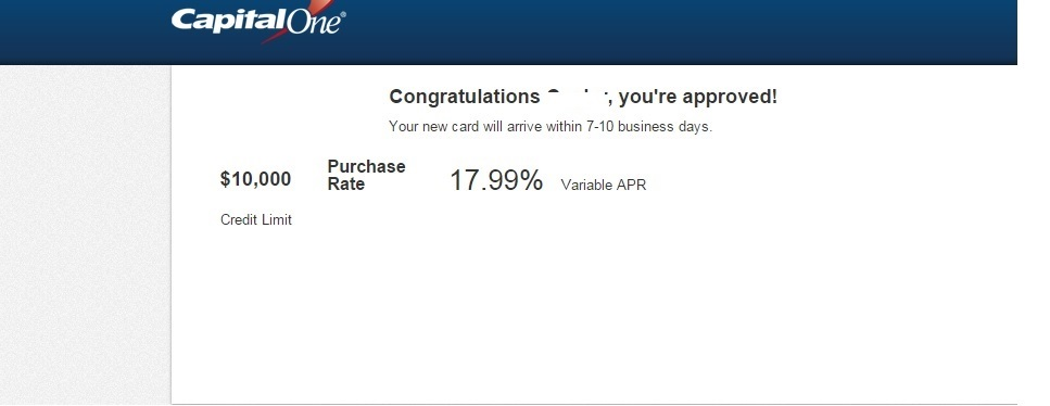 CapitalOne Venture Approval!! My highest limit :) - myFICO® Forums