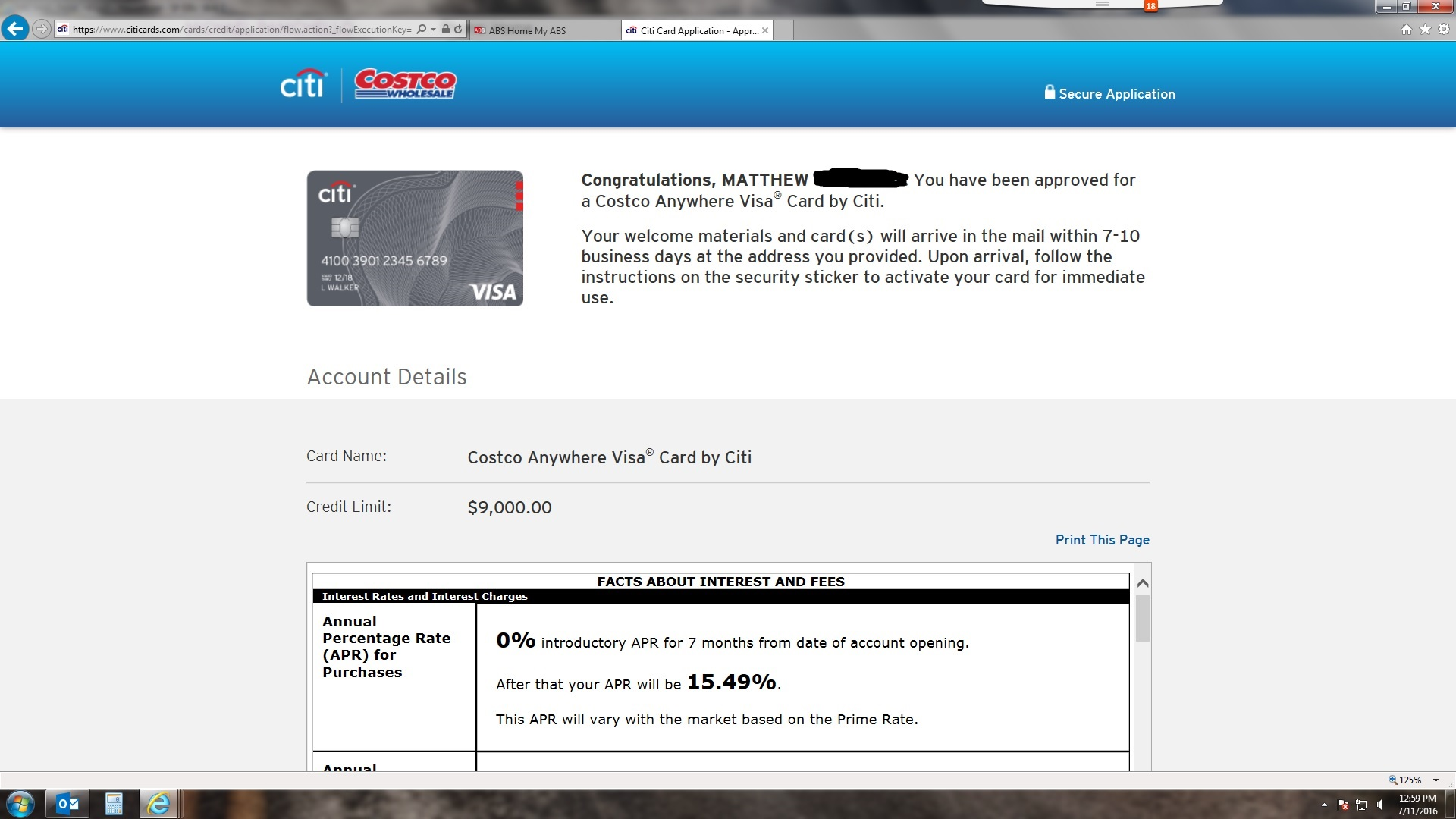 Costco Visa w/ BK reporting - myFICO® Forums - 8