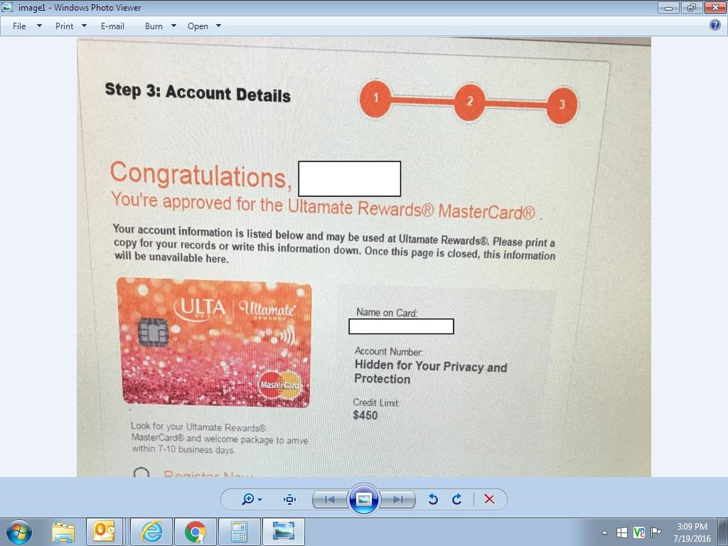Ulta Rewards Mastercard - myFICO® Forums - 6