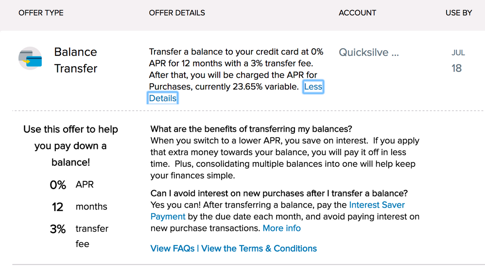 My first ever Balance Transfer offer, need advice. - myFICO