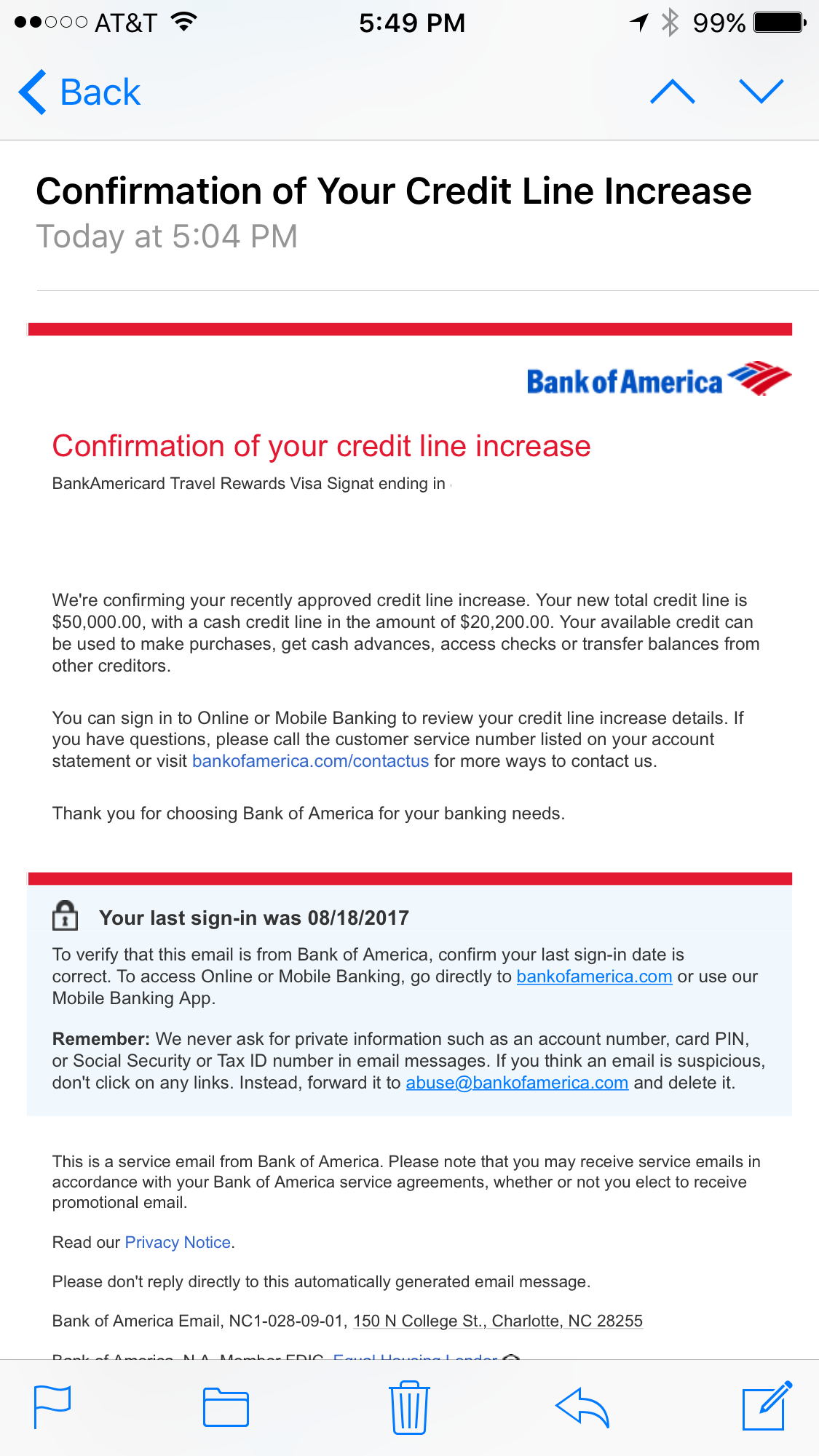 Bank of America CLI to $10,10 - myFICO® Forums - 1027207