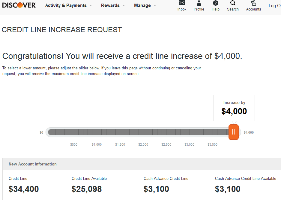 Whats your Discover card credit limit? - Page 6 - myFICO® Forums