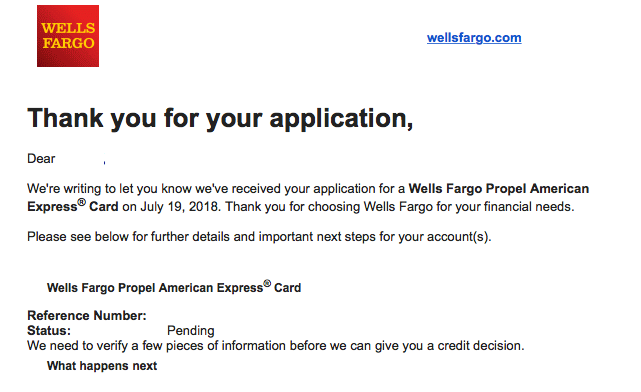 Wells Fargo Propel Amex Approved! - myFICO® Forums - 11