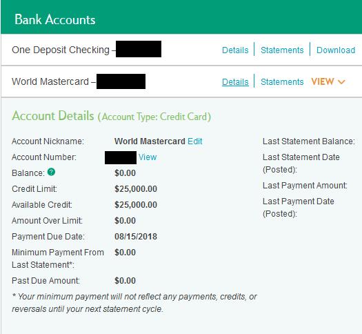 Citizens Bank World MC CLI Highest Limit 9k:) - myFICO® Forums