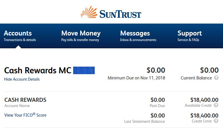 suntrust bank sign on page