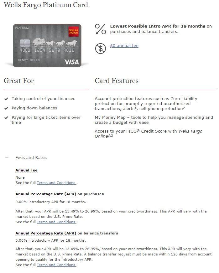 Wells Fargo Platinum Credit Card - myFICO® Forums - 9