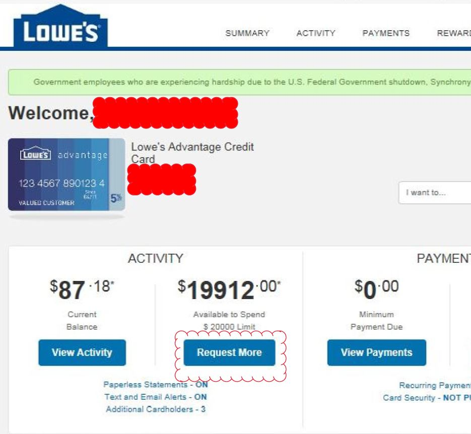 home depot credit card vs lowes