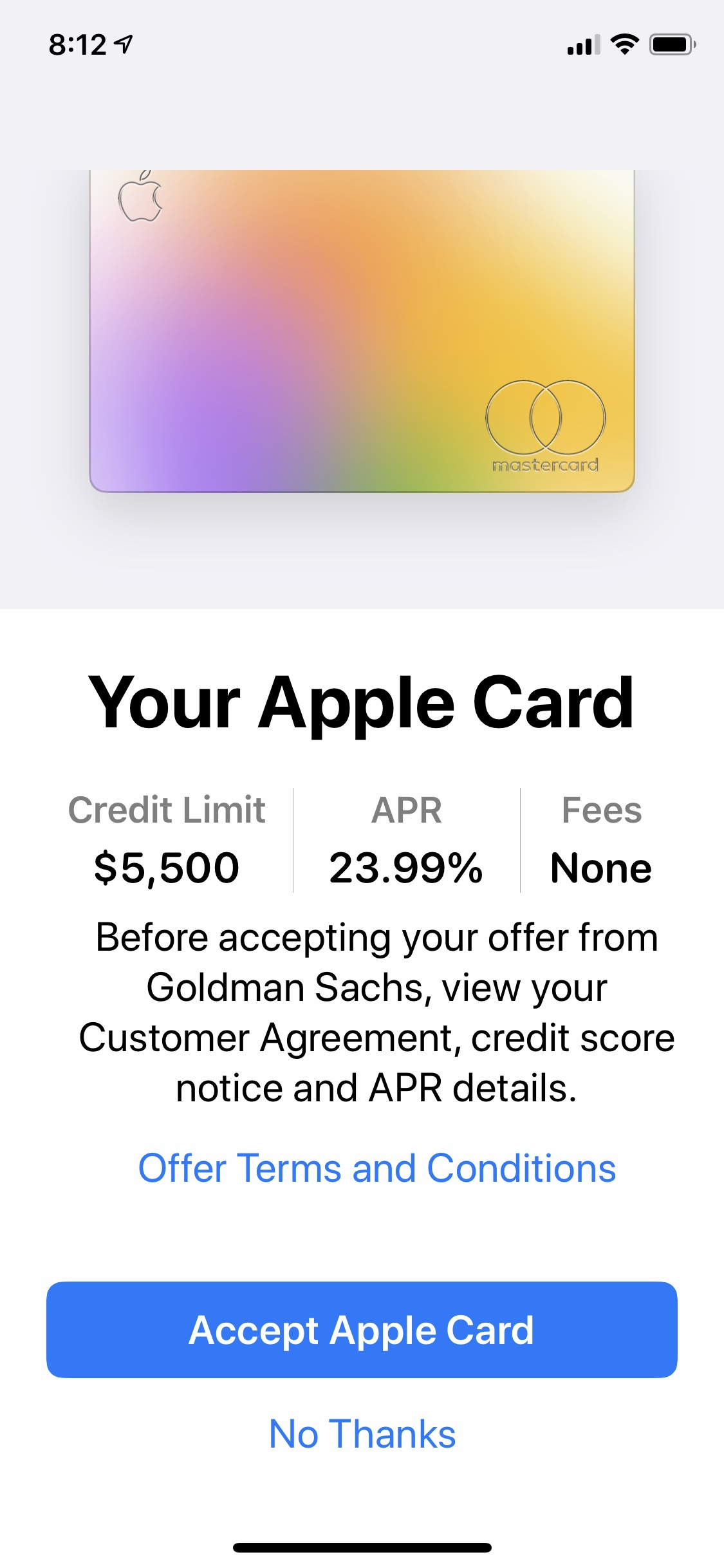 Apple Card Approval $112 - Page 12 - myFICO® Forums - 12