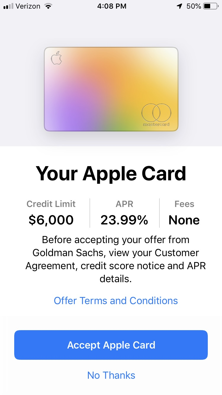 Approved for Apple Card and Turned It Down - Page 10 - myFICO