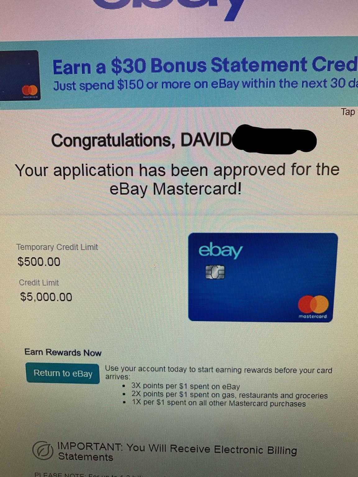 Synchrony loves me suddenly (Ebay Mastercard appro - myFICO