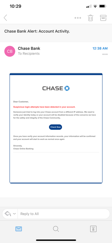 Chase Bank Fraud Email Myfico Forums 5736912