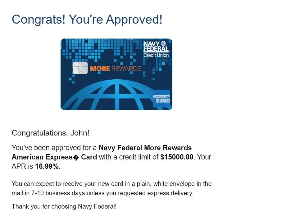 Nfcu Second Card Approval With Solid Sl Myfico Forums 5764905
