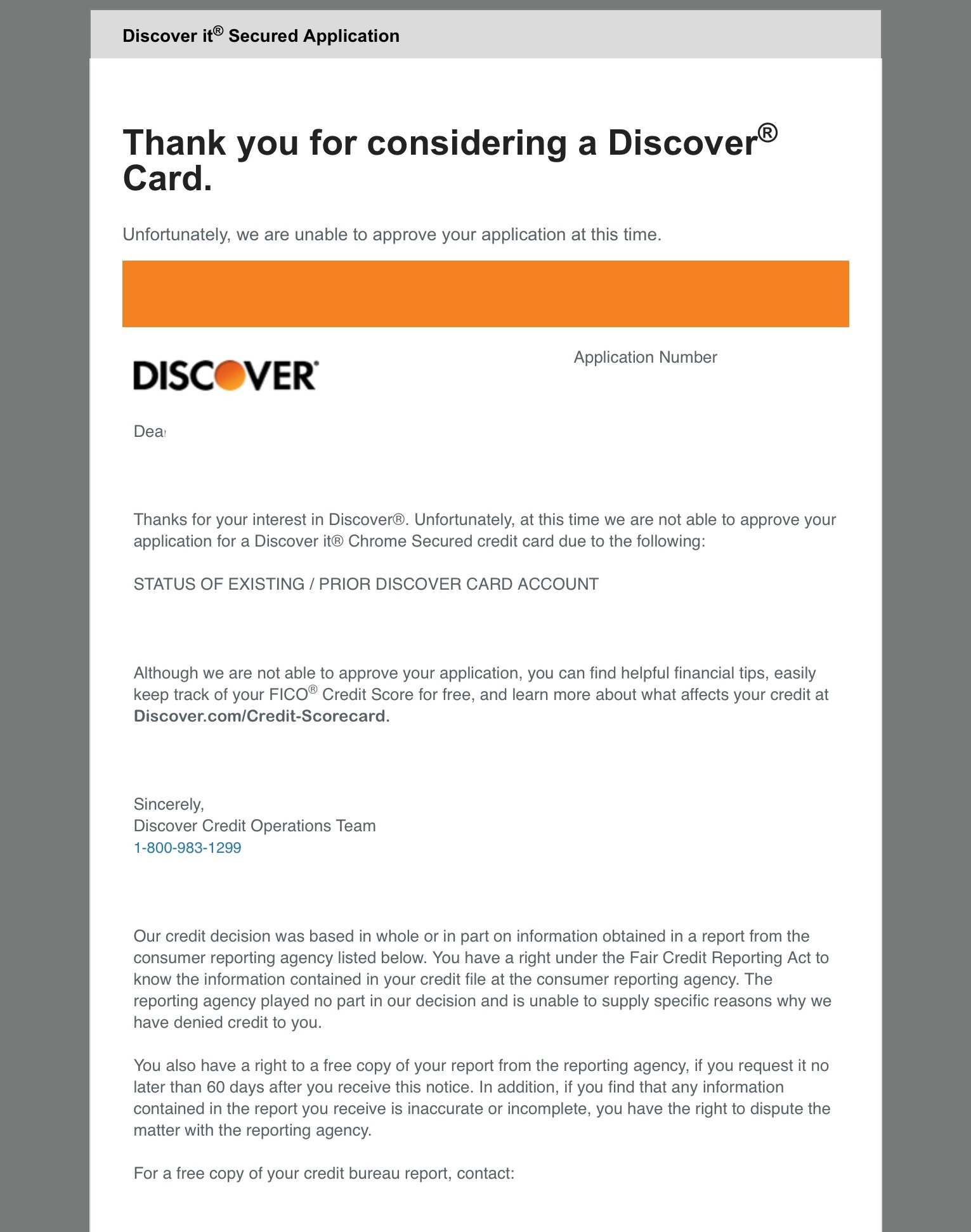 Discover It Secured Declined! - myFICO® Forums - 6