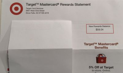 Target MC Rewards statement 1 of 2
