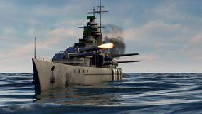 d-animation-battleship-firing-heavy-caliber-guns-d-animation-battleship-firing-heavy-caliber-guns-139139073