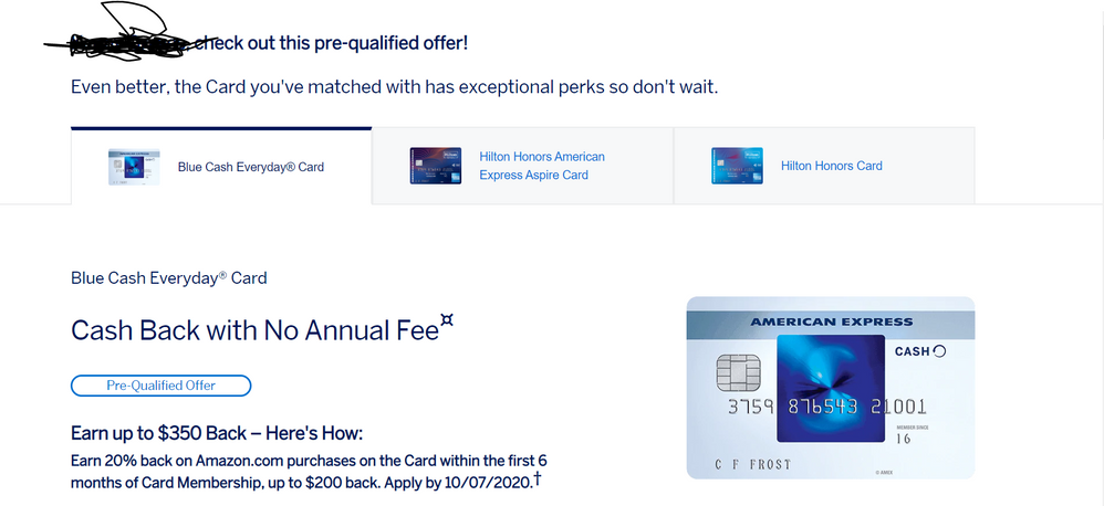 Update: Legit! American Express Pre-Approval Legit - myFICO
