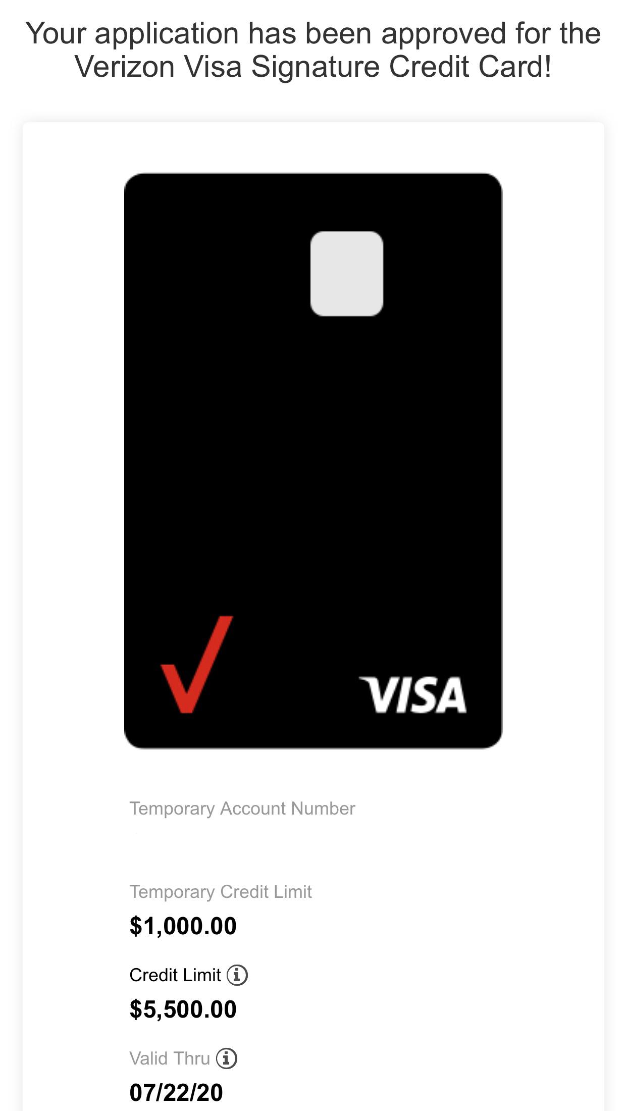 Verizon Visa Approval$8 - myFICO® Forums - 8