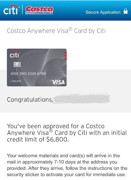 Costco Anywhere Visa (Citi) Approved! - myFICO® Forums - 8