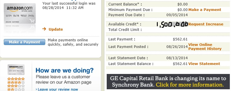 Amazon store card credit limit - Page 11 - myFICO® Forums - 11060539